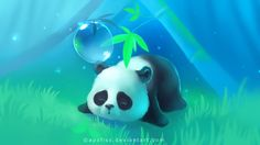 bamboo panda paper by Apofiss on @DeviantArt