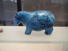 My favorite thing! The blue hippo at the louvre!!