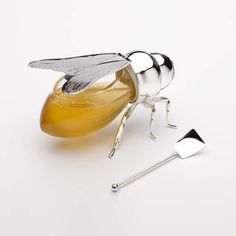 Silver Plated Honey Bee Jar