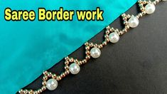 Hand made border// for saree// easy to make// border making// simple border// useful & easy Bead Embroidery Patterns, Beaded Jewelry Patterns, Beaded Embroidery, Hand Embroidery, Saree Tassels Designs, Saree Kuchu Designs, Knitting Yarn Diy, Simple Borders, Crochet Baby Boots