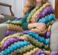 Twilight Shells Crochet Blanket Free Pattern