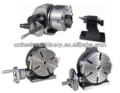 """Rotary Table, 4"""" with Tailstock, Dividing Plate, & 3-Jaw ..."""