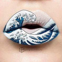 Lip Art By Makeup Master Andrea Reed Is Fantastic! This+Lip+Art+By+Makeup+Master+Andrea+Reed+Is+Fantastic!This+Lip+Art+By+Makeup+Master+Andrea+Reed+Is+Fantastic! Lipstick Designs, Lip Designs, Makeup Masters, Make Up Inspiration, Lipstick Art, Lipsticks, Liquid Lipstick, Nice Lips, Cool Lips