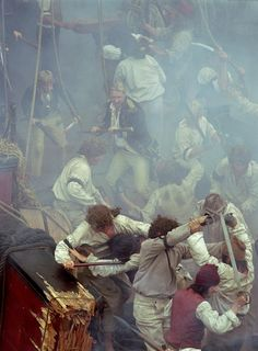 Russell Crowe in Master and Commander: The Far Side of the World Chris Larkin, Patrick O'brian, Billy Boyd, Master And Commander, Russell Crowe, Royal Marines, The Far Side, True North, Story Inspiration