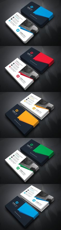 Buy Corporate Business Card by zeropixels on GraphicRiver. FEATURES: Easy Customizable and Editable Business card in with bleed CMYK Color Design in 300 DPI Resolut. Best Business Ideas, Unique Business Cards, Corporate Business, Corporate Identity, Business Card Design, Id Card Design, Web Design, Banner Design, Design Ideas