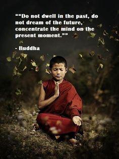 No te entretengas con el pasado, no sueñes con el futuro, concentra tu mente en el momento presente. -Buda