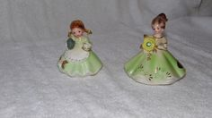 Porcelain Josef Originals Figurines (pr) August & Teapot.