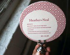 Letterpress Coasters - love the repeated pattern. (via @bellafigura) #pattern #wedding