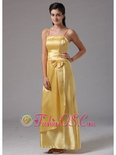 2013 Yellow Column Spagetti Straps Middletown Connecticut Bridesmaid Dress With Bow- $114.56  http://www.fashionos.com  http://www.facebook.com/quinceaneradress.fashionos.us  This pink bridesmaid dress that is youthful and chic. Available in many different colors? including yellow,pink and white the shour formal dress is ferfect for a beautiful semi formal, or wedding. Thus, this gorgeous yellow dress will conquer countless hearts of bridesmaid.