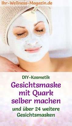 Gesichtsmaske mit Quark selber machen - Rezept und Anleitung Making face mask with curd cheese yourself - DIY recipe for a homemade facial mask against dry skin from only 2 ingredients it You Beauty Tips For Face, Diy Beauty, Beauty Hacks, Homemade Facial Mask, Homemade Facials, Diy Mask, Diy Face Mask, Mascarilla Diy, Goji