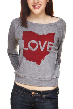 Image of Ohio Love - Light-Weight Pullover