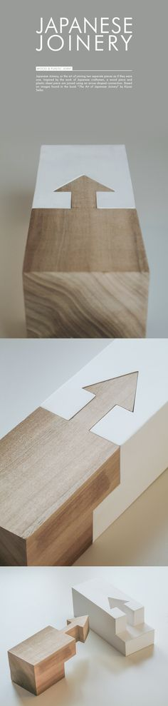 Small assignment for Design & Prototyping class: to recreate a Japanese Joinery as they can be seen in the book by Kiyosi Seike. One part had to be made out of wood, the other was created using polystyrene sheet.