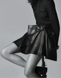 this leather skirt is perfect