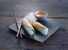 Frühlingsrolle Fresh Rolls, Ethnic Recipes, Food, Video Production, Essen, Meals, Yemek, Eten