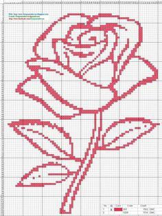 Rosa con tallo patron