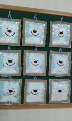 Easy Christmas Classroom Decorations you'll have to check out before you scroll up - Winter İdeas Winter Art Projects, Winter Crafts For Kids, Winter Kids, Art For Kids, Christmas Art, Simple Christmas, Christmas Decorations, Bear Crafts, Diy Crafts
