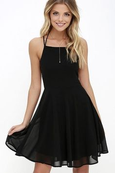 Reward your good behavior with a treat like the Good Deeds Black Lace-Up Dress! Dreamy, lightweight Georgette sweeps across a princess-seamed bodice, and strappy apron neckline, plus a lacing open bac