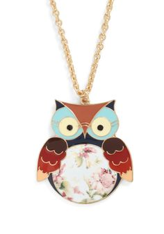 ModCloth: Hoot Couture Necklace $15.99
