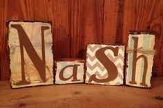 Baby boy name blocks