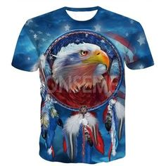 d9ab5e70 ONSEME Religion Buddha Elephant 3D T Shirt Tops Dreamcatcher Eagle Prints T  Shirts Cute YinYang Cat Tees Men Harajuku Tee Shirts