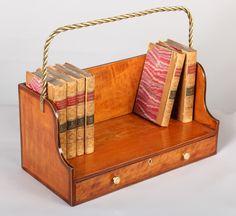 Portable book shelf in the Sheraton manner c.1800