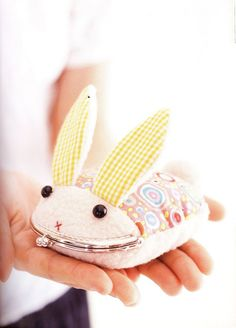 Make a bunny coin purse Omg so cute.