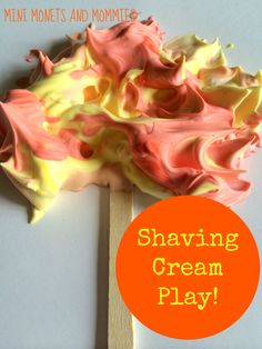 Fall shaving cream tree art activity for kids!
