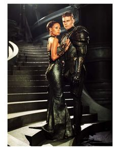 Thandie Newton & Karl Urban as Lady & Lord Vaako (The Chronicles of Riddick)