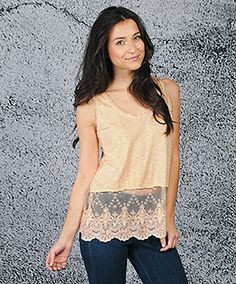 sweet n simple. can't go wrong with lace... or ethical fashion.