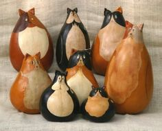 """Antiqued Folk Art gourds. Hand painted, Kentucky crafted. The perfect all-occasion gift. Gourds by GertsKid!"""