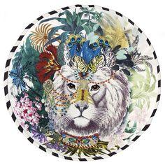 Coussin Jungle King Opiat - Chritian Lacroix