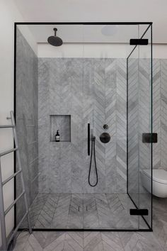 MWAI uses bright shades in West London apartment renovation for two design enthusiasts - Haus Dekoration ideen 2018 - Toilet Bathroom Tile Designs, Bathroom Interior Design, Modern Interior Design, Bathroom Ideas, Bathroom Furniture, Bathroom Trends, Budget Bathroom, Modern Toilet Design, Bathroom Cost