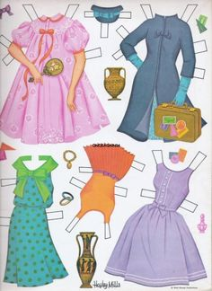 Hayley Mills paper doll clothes from Moon Spinners / eBay