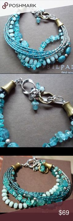🆕 NWOT retired Silpada mixed blue stone bracelet Beautiful NWOT retired Silpada bracelet. Multi strand bracelet with sterling silver, brass, quartzite, kyanite, apatite, and seed bead. Can be found in 2011-2012 catalog on page 53E. Sold new for $99. My loss is your gain! Ships in Silpada box. I have matching necklace! Silpada Jewelry Bracelets