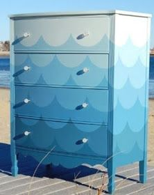 Coastal Decor, Beach, Nautical Decor, DIY Decorating, Crafts, Shopping | Completely Coastal Blog: Paint a Dresser Blue -7 Makeovers with a Beach Vibe