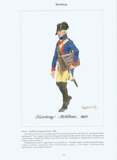 The Confederation of the Rhine - Hamburg: Plate 3. Artillery Company, Private, 1807