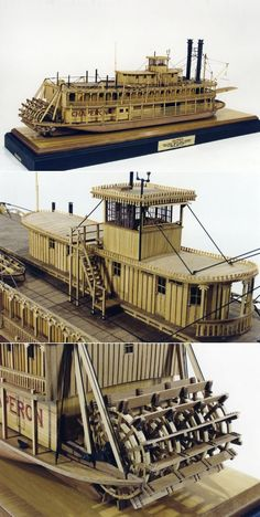 Chaperon by Edward Decker • This U.S. stern paddle wheeler was one of the last riverboats in operation on the Western Rivers, used for commercial, tourist transportation on the Green and Barren Rivers (southern tributaries of the Ohio) in Kentucky between Bowling Green and Mammouth Cave, a distance of about 75 miles.  http://www.shipmodel.com/models/chaperon-full-hull