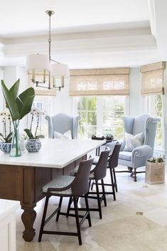 Eclectic Kitchen with Oversized Chairs in Eat in Area Kitchen Contemporary American Modern Eclectic Coastal Transitional by Jill Shevlin Design Rustic Kitchen Design, Eclectic Kitchen, Modern Farmhouse Kitchens, Dining Room Design, Kitchen Designs, Dining Rooms, Beach Kitchens, Coastal Farmhouse, Dream Kitchens
