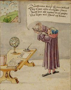 Astronom mit Astrolabium. In der Moral wird die nützliche Astronomie von der Fantasterei der Astrologie geschieden.