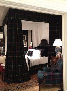 Beautiful Tartan bedroom.