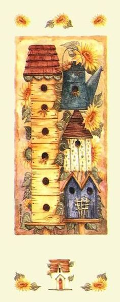 sunflower birdhouse by Diane Knott
