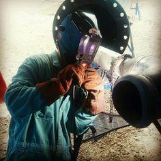 Stick welding!