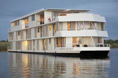 The Zambezi Queen river boat hotel in South Africa