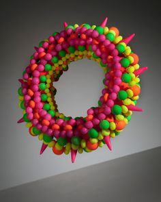 Joyously Colorful Bead Work by Suzanne Golden - Neon Bracelet with Spikes