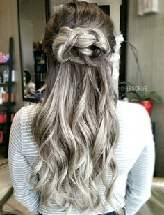 Ash+Brown+Hair+With+Silver+Balayage