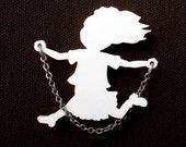 Jumping Rope Girl-Acrylic Brooch - La Canica