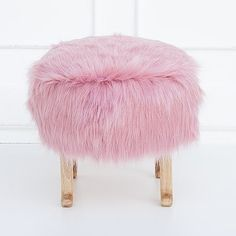 Little pouffe kids fur chair