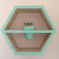 Larger Timber Hexagon Shadow Box by MapleandMay on Etsy