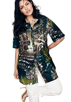 Women s Plus Size Angelina Tunic In Crinkle Crepe Tunics Online a3c58d400e43