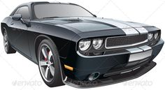 American Pony Car #GraphicRiver Detail vector image of black modern pony car with white racing stripes, isolated on white background. File contains gradients and transparency. No blends and strokes. Easily edit: file is divided into logical layers and groups. Created: 4October13 GraphicsFilesIncluded: JPGImage #VectorEPS #AIIllustrator Layered: Yes MinimumAdobeCSVersion: CS Tags: MotorizedSport #american #automobile #black #car #coupe #design #drag #dragster #frontview #hotrod…